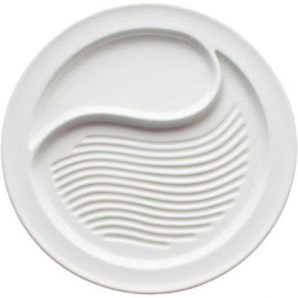 Talíř steakový, 28,5 cm, dělený, masivní provedení, vroubkovaný, WALKÜRE